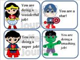 Superhero Praise Cards/Positive Behavior Certificates