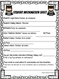 Superhero Student Info Sheet English & Spanish