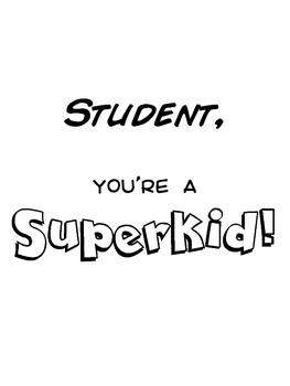 Superhero Student of the Week
