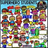 Superhero Students Clip Art Bundle {Educlips Clipart}