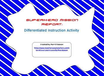 Superhero Students! Differentiated Instruction Activity