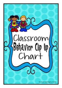 Super Students Theme Classroom Behavior Clip Up Chart