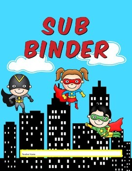 Superhero Sub Binder Organizer