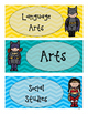 Superhero Subject Labels