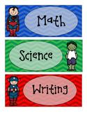 Superhero Subject Labels