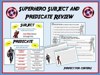 Superhero Subject and Predicate