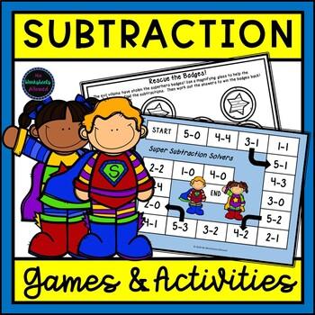 Superhero Subtraction Games and Activities