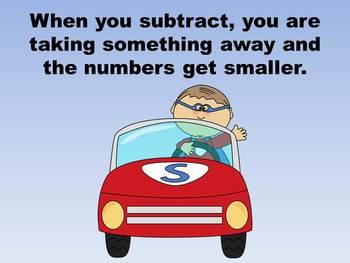 Superhero Subtraction - PowerPoint Game