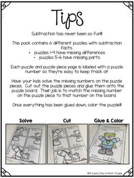 Superhero Subtraction Puzzles!