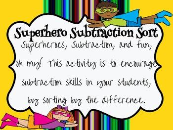 Superhero Subtraction Sort