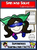 Superhero Subtraction Spin and Solve Math Centers