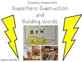 Superhero Subtraction and Building Words Activity