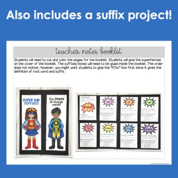Suffixes Unit- Superhero Suffixes!