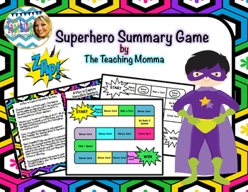 Superhero Summary Game