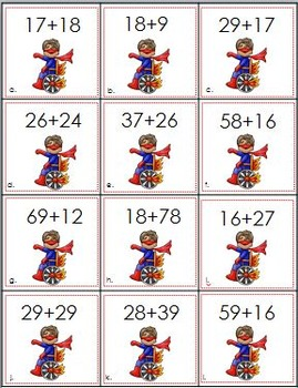 Addition of Two-Digit Numbers ~ Superhero Sums