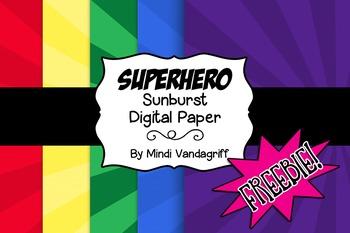 Superhero Sunburst Digital Paper Freebie!