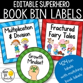 Classroom Library Labels: 424 Book Bin Labels & Matching Book Labels Sunray