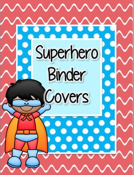 Superhero Super Hero Binder Covers