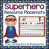 Superhero Classroom Theme Resource Mat