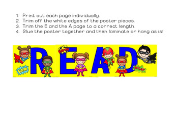 Superhero/ Super Hero Themed READ Poster