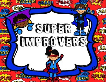 Superhero Super Improver Wall Set and Book