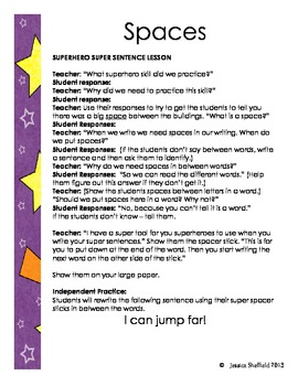 Superhero Super Sentence Unit