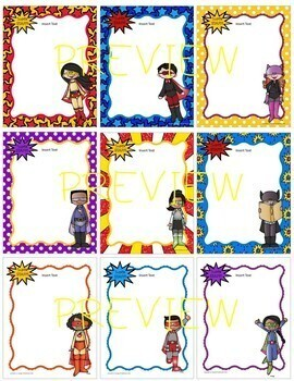 "Superhero ""Super Staff"" Editable Stationery!  (Principals/Assistant Principals)"