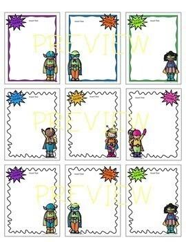 "Superhero ""Super Teacher"" EDITABLE Stationery! (Principals/Assistant Principals)"