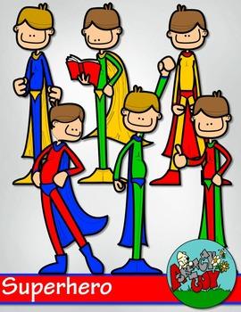 Superhero / Super hero Clip art