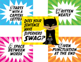 Superhero Swag Sentence Posters