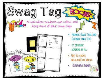 Superhero Swag Tag Books and Tags