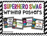 Superhero Swag Writing Posters