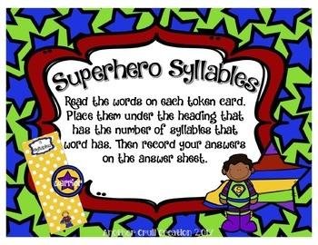 Superhero Syllables