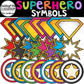 Superhero Symbols Clip Art {Superhero Clip Art}