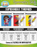 Superhero Symmetry Skill Activity Pack {Zip-A-Dee-Doo-Dah Designs}