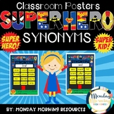 Superhero Synonym Classroom Poster Set