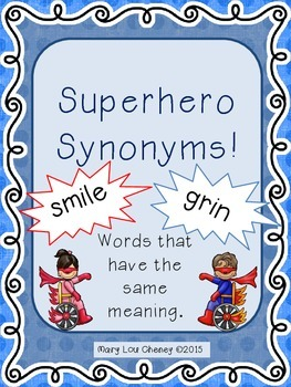 Superhero Synonyms!