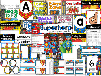 Superhero TWO Theme Decor {Expansion Pack}