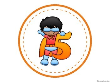 Superhero Table Numbers 1-8