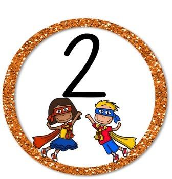 Superhero Table Numbers - Circles