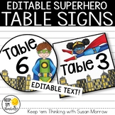 Superhero Theme Table Signs - Superhero Theme Decor