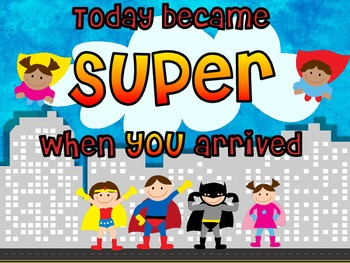 Superhero Tables, Banner, Student tags