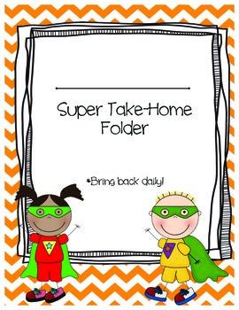 Superhero Take-Home Folder Covers {Customizable}