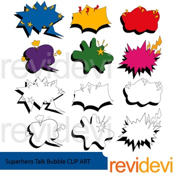 Superhero Talk Bubble clip art