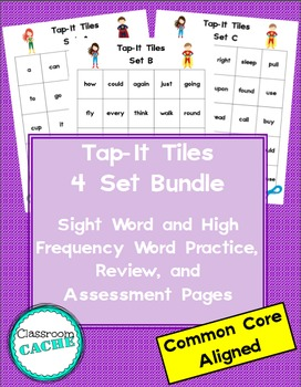 Superhero Tap-It Tiles: Sight Word and High Frequency Word Charts (K-3)
