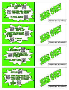 Superhero Task Cards