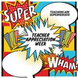 Superhero Teacher Appreciation Week Invite