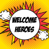 Superhero Teacher Appreciation Week Posters