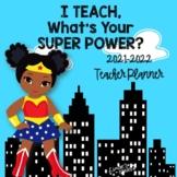Super Hero Teacher Planner 2020-2021 {EDITABLE}