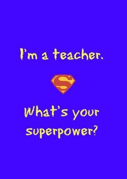 Superhero Teacher Thank You